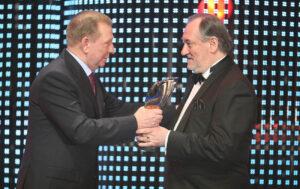 Церемонія Людина року-2007. Л.Кучма та Б.Ступка.
